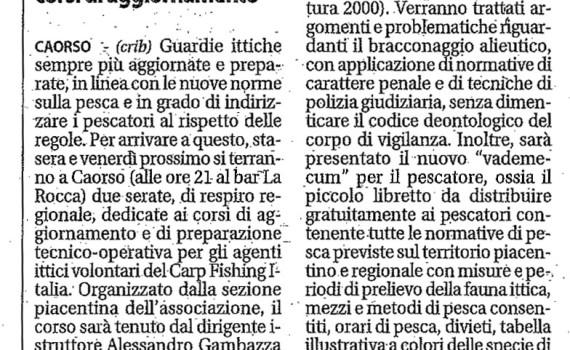 Piacenza Nr 253 Vigilanza Ittica Agenti Ittici Volontari