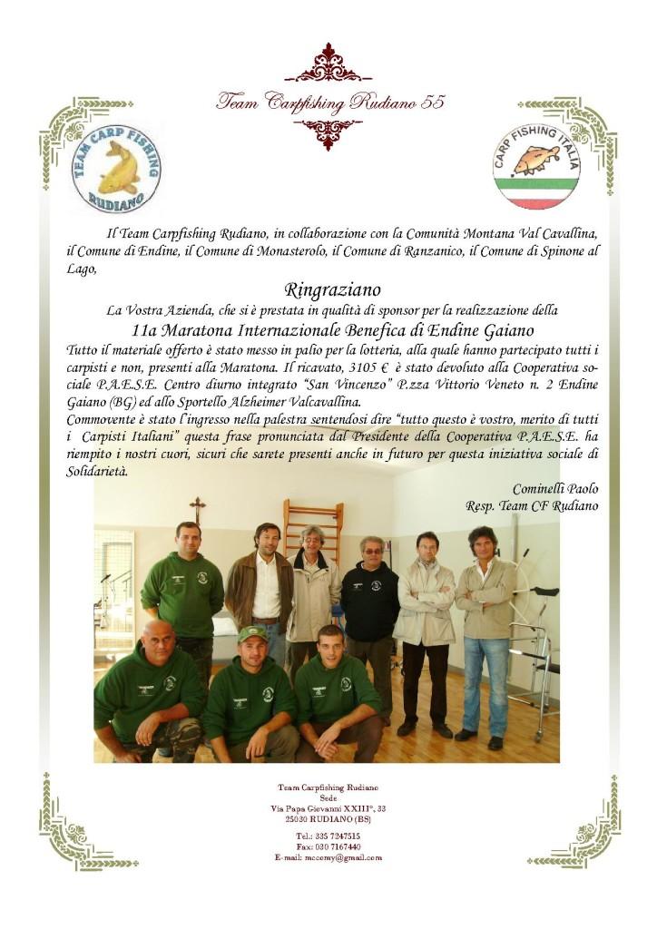RINGRAZIAMENTO AGLI SPONSOR 11a MARATONA DI ENDINE 2007