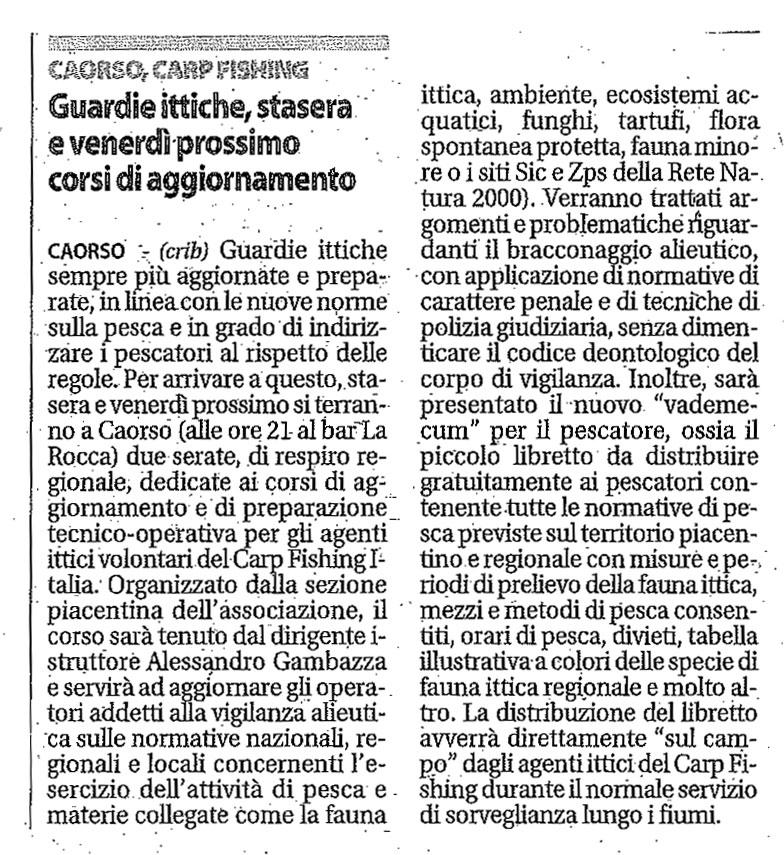 Piacenza Nr 253 Agenti Ittici Volontari