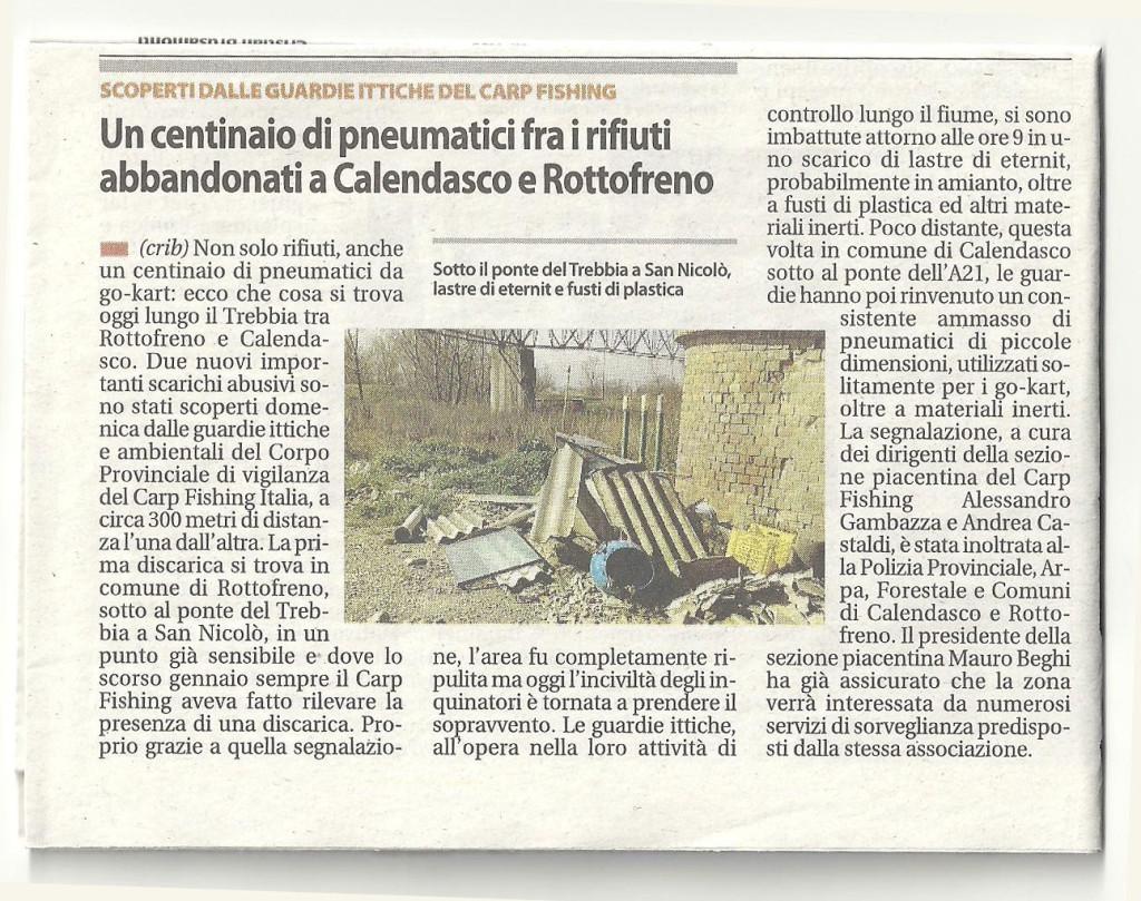 Segnalazione abbandono rifiuti San Niccolò