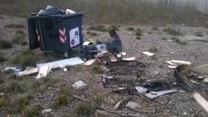 Segnalazione abbandono rifiuti diga Mignano