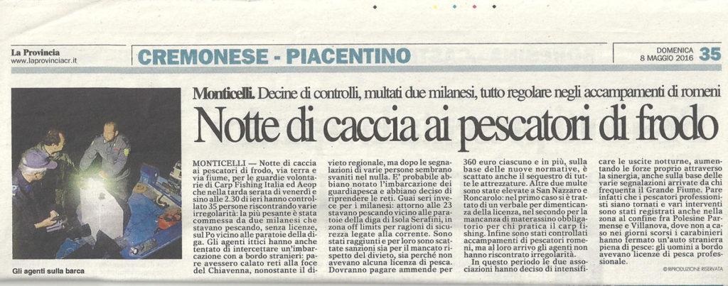 Vigilanza ittica sede nr 253 Piacenza
