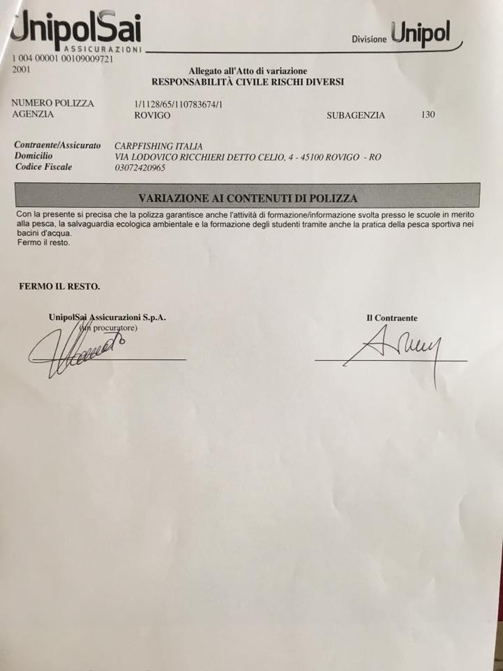 Assicurazione iscritti CFI