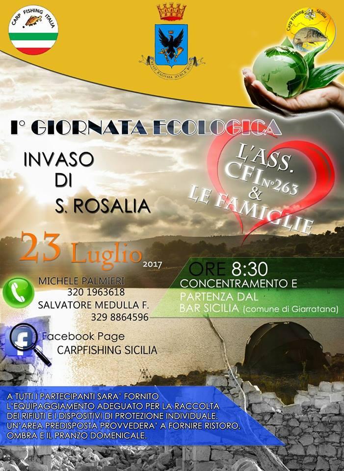 Giornata ecologica famiglie lago Santa Rosalia
